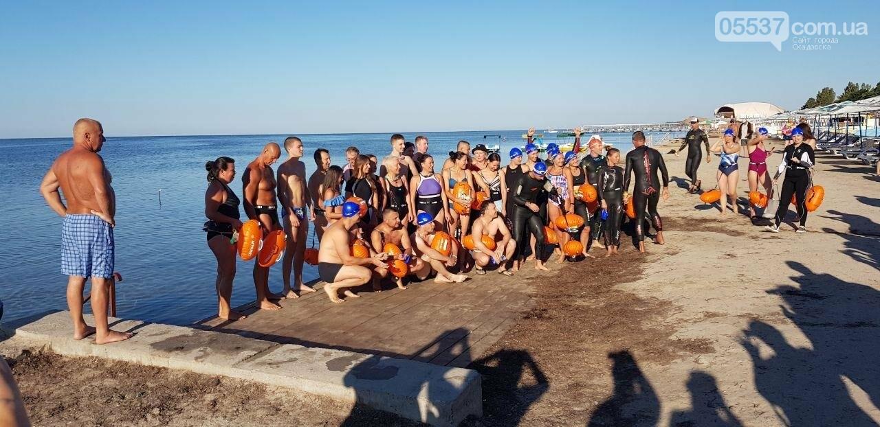 В Скадовске определены победители заплыва на Джарылгач, фото-1