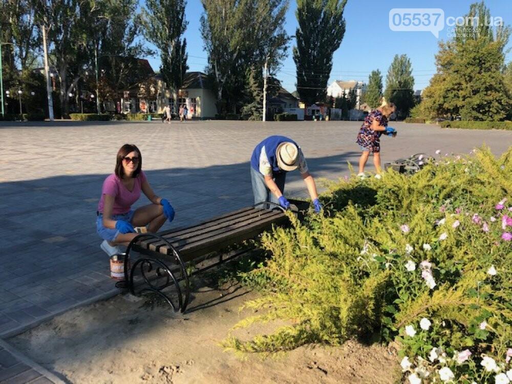 Сегодня в Скадовске наводили порядок возле порта и в центре города, фото-3