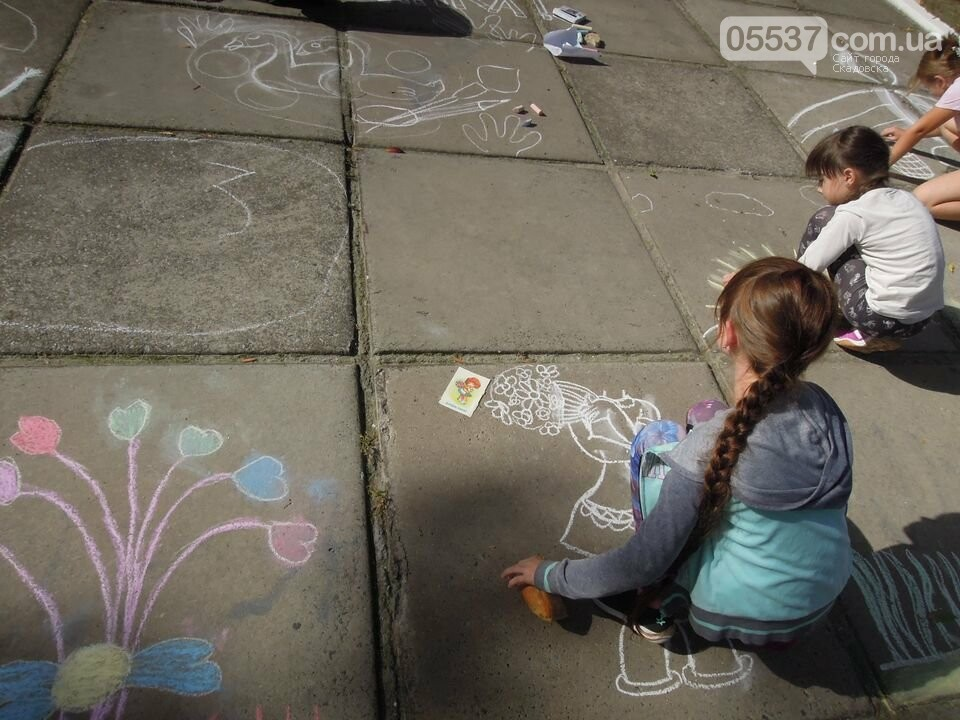 В Скадовске рисовали на асфальте, фото-3