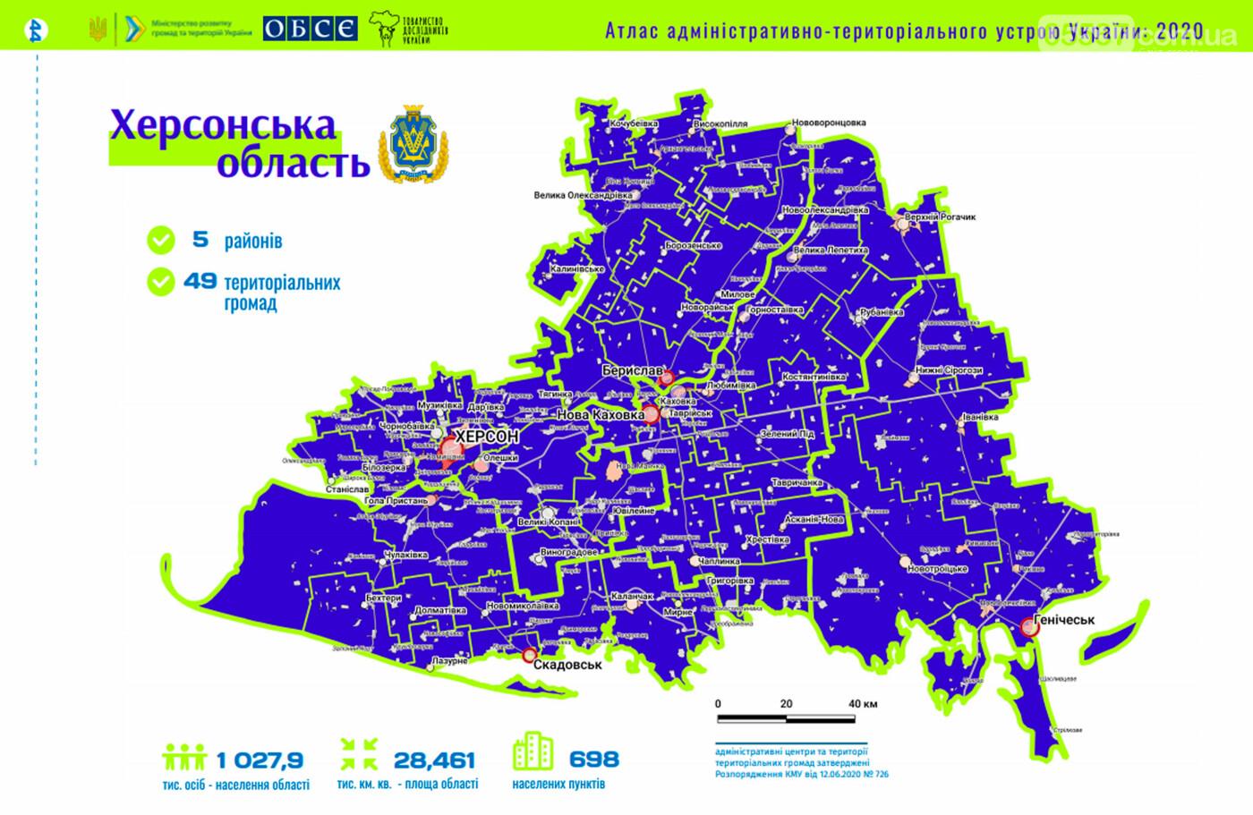 Новое административно-территориальное устройство: как на карте будет выглядеть Скадовский район, фото-1