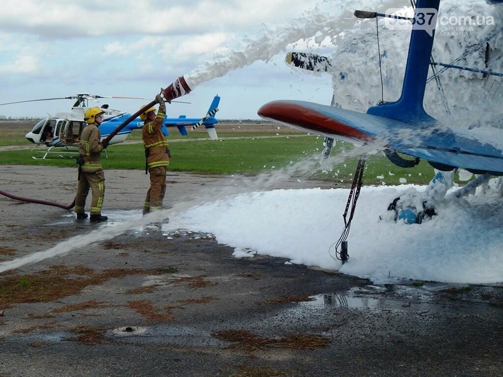 В Скадовске пожарные тушили самолет (ФОТО), фото-3